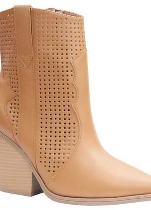 Bota country boots feminina ramarim caramelo 1954103