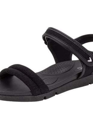Sandália papete feminino mississipi preto q3711
