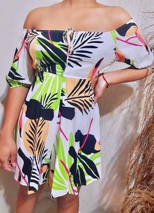 Macaquinho feminino estampado viscose encorpada moda carioca sucesso