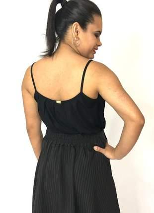 Blusa de alça preta