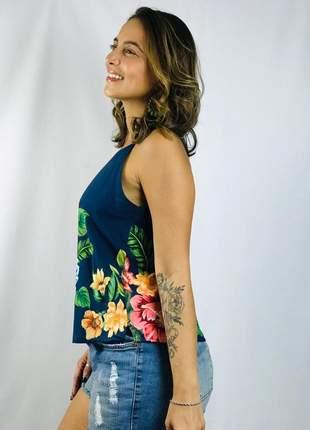 Camiseta alice azul floral