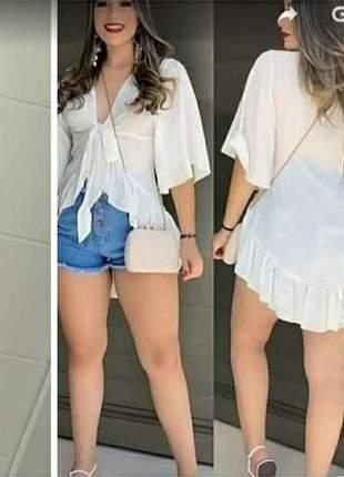 Bata feminina toda em viscose,bata blusa linda bata manga flare