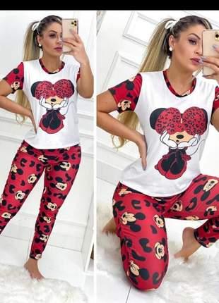 Mais novidade pijama mickey, scooby doo , minie  calça e manga longa cod.may