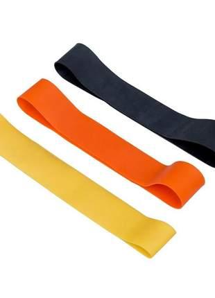 Kit mini band látex c/ 3 faixas circulares