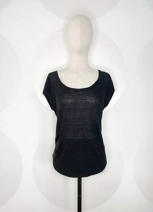 Camiseta bolso canguru preta