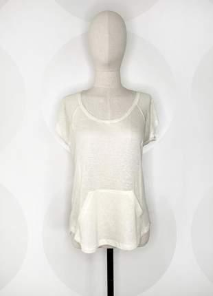 Camiseta bolso canguru offwhite