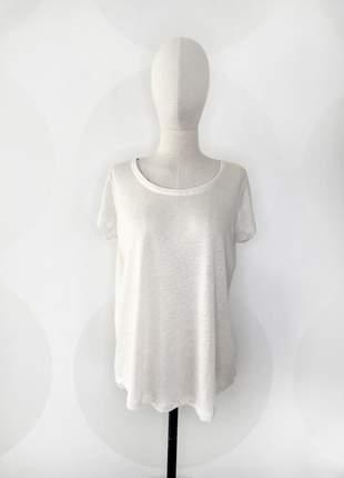 Camiseta de botões nas costas offwhite