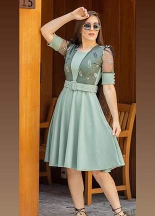 Vestido midi moda evangélica
