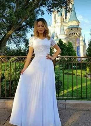 Vestido longo de festa moda evangélica