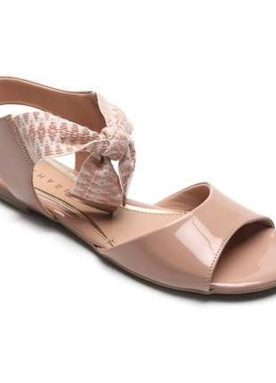 Sandália Fem Ramarim Dubai Plus Laço Nude 19-24206