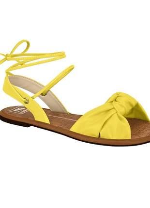 Sandália Moleca Strech/Verniz Amarelo 5445.105