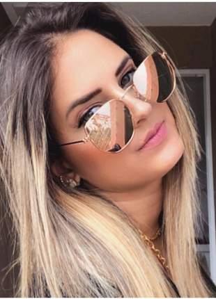 Óculos de sol feminino rosé