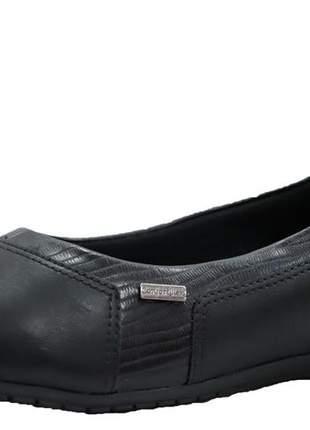 Sapatilha anabela feminina preto comfortflex 1994302p