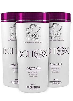 Combo 3 hidratação boltox capilar argan oil force de frizz 1kg