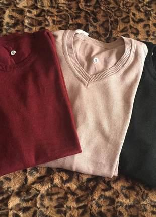 Blusas de lã fininha