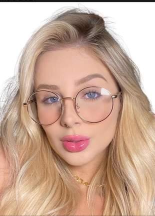 Óculos de grau redondo grande viale original tendência 2021