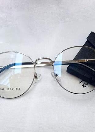 Óculos armação para grau juliette bbb 21redondo ray ban round feminino prata ou dourado
