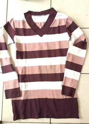 Blusa de lã listrada