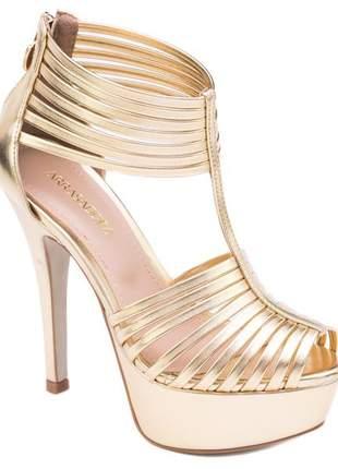f6d058e25 Sandália meia pata ouro - R$ 238.00 (cor bege) #11010, compre agora ...