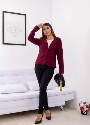 Blazer feminino casaco bengaline moda atual
