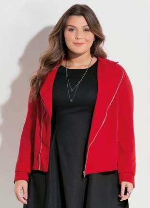 Jaqueta plus size vermelha