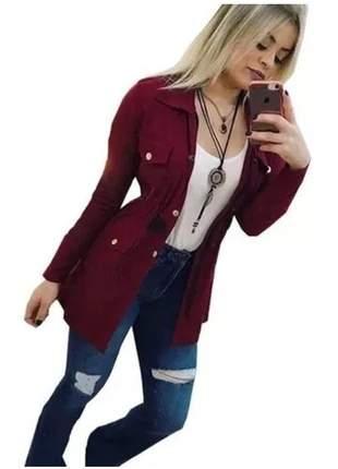 Jaqueta sobretudo parka casaco feminino moda blogueiras