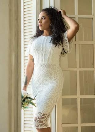 Letícia| vestido de noiva princesa renda casamento civil evangélico
