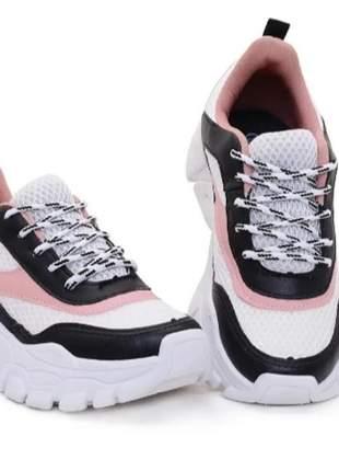 Tenis feminino sneaker plataforma casual promoção