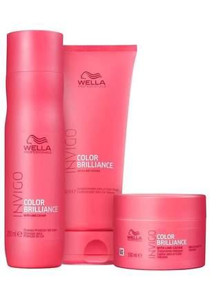 Kit wella professionals invigo color brilliance trio (3 produtos)