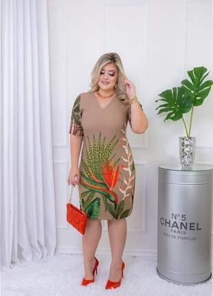Vestido feminino estampado moda evangélica