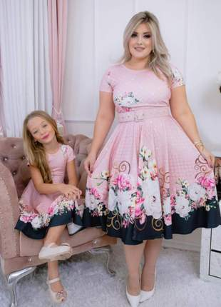 Vestido tal mãe tal filha godê moda evangélica