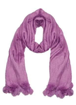 Cachecol lenço pashimina xale echarpe várias cores ref 273 (uva)