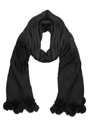 Cachecol lenço pashimina xale echarpe várias cores ref 273 (preto)