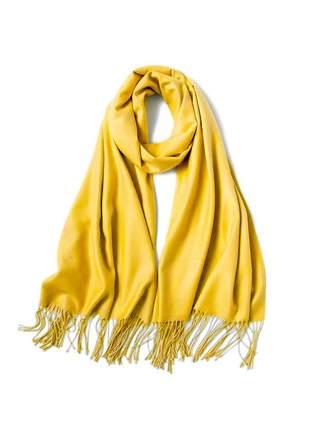 Cachecol lenço pashimina xale echarpe várias cores ref 273 (amarelo)