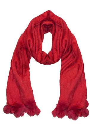 Cachecol lenço pashimina xale echarpe várias cores ref 273 (vermelho)