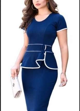 Vestido evangelico tubinho modela cintura  roupas femininas