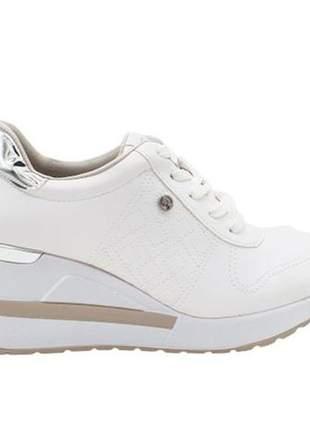Tênis feminino sneakers plataforma via marte 21-1213