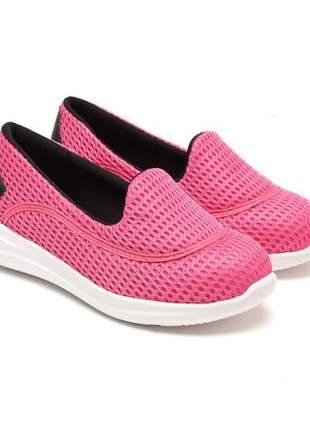 Tênis Casual Molekinha Nylon Pink/Preto 2503.207