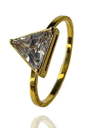 Anel triângulo zircônia 18