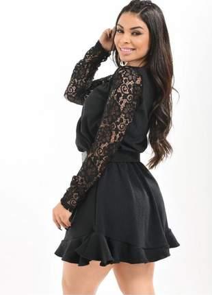 Vestido feminino midi moda casual chic elegante