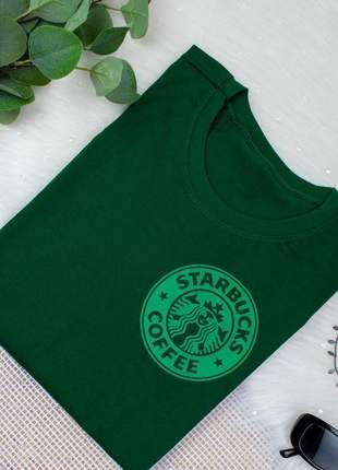 Blusa camiseta t-shirt estampada starbucks malha verde