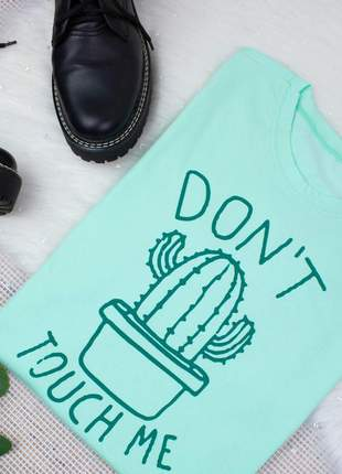 Blusa camiseta t-shirt estampada cacto malha