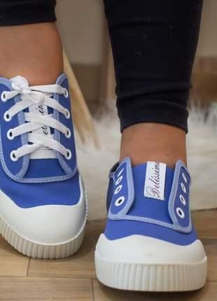 Tênis casual azul belíssima
