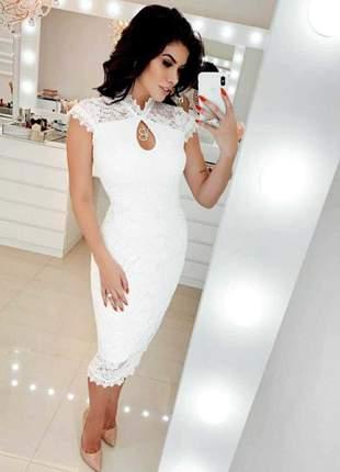 Vestido moda evangélica executiva social elegante luxo tendência