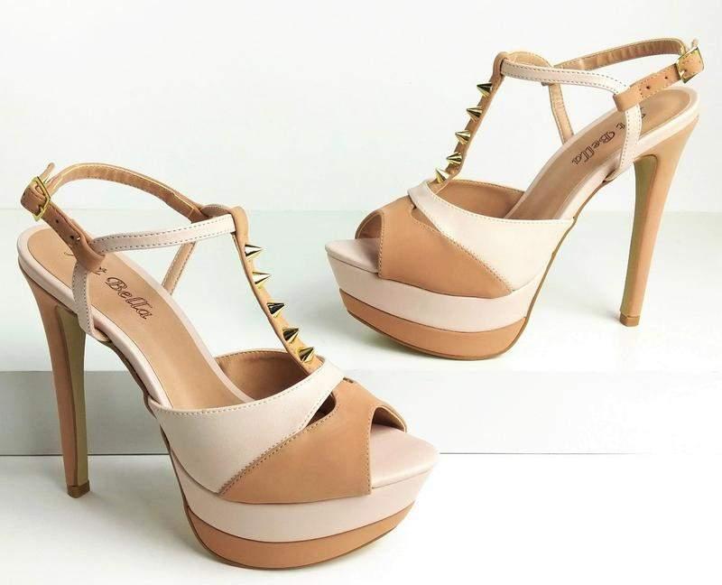 e36d622a7 Sandália meia pata salto alto fino nude - R$ 179.00 #11090, compre ...