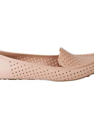 Sapato mocassim feminino casual agatha tipo melissa