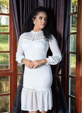 Vestido de noiva cartório civil moda evangélica elegante social