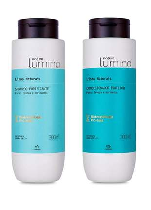 Kit shampoo + condicionador natura lumina cabelos lisos regular 300ml