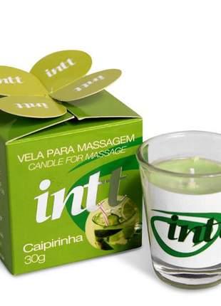 Vela comestível para massagem aroma caipirinha