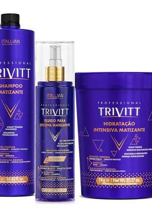 Kit trivitt blonde matizante profissional (3 produtos)